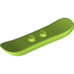 Lime Minifigure, Utensil Snowboard Small