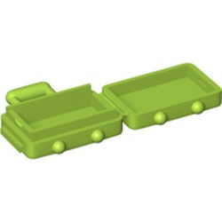 Lime Minifigure, Utensil Suitcase with Long Handle - new
