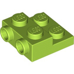 Lime Plate, Modified 2 x 2 x 2/3 with 2 Studs on Side