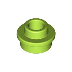 Lime Plate, Round 1 x 1 with Open Stud - new