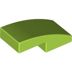 Lime Slope, Curved 2 x 1