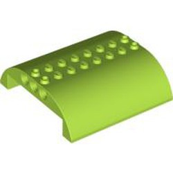Lime Slope, Curved 8 x 8 x 2 Double - used