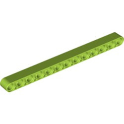 Lime Technic, Liftarm 1 x 13 Thick - used