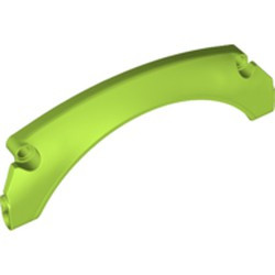 Lime Technic, Panel Car Mudguard Arched 15 x 2 x 5 Rounded Top - new