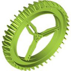 Lime Wheel Hard Plastic Spoked Giant Thin (160mm D. x 28mm)