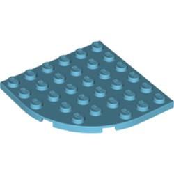Medium Azure Plate, Round Corner 6 x 6 - new