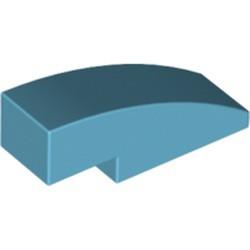 Medium Azure Slope, Curved 3 x 1 - new
