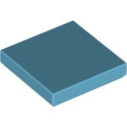 Medium Azure Tile 2 x 2 with Groove - used