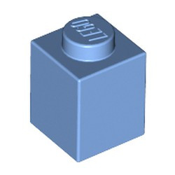 Medium Blue Brick 1 x 1