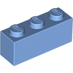 Medium Blue Brick 1 x 3 - new