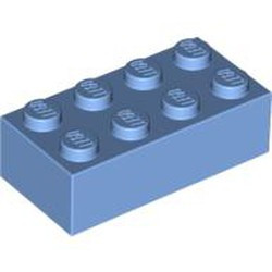 Medium Blue Brick 2 x 4 - new