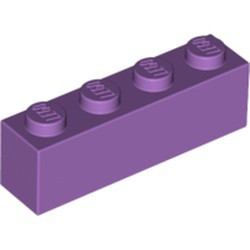 Medium Lavender Brick 1 x 4 - new