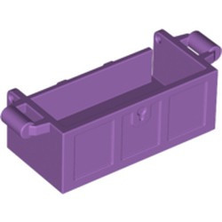 Medium Lavender Container, Treasure Chest Bottom - Slots in Back - new