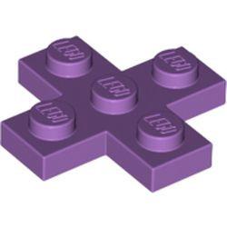 Medium Lavender Plate, Modified 3 x 3 Cross