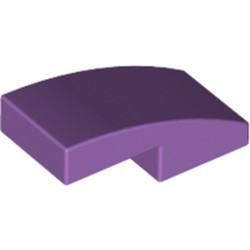 Medium Lavender Slope, Curved 2 x 1
