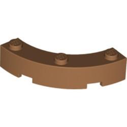 Medium Nougat Brick, Round Corner 4 x 4 Macaroni Wide with 3 Studs - new