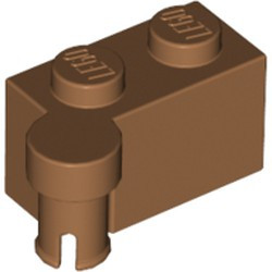 Medium Nougat Hinge Brick 1 x 4 Swivel Top - new