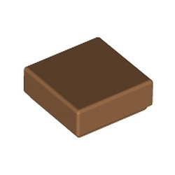 Medium Nougat Tile 1 x 1 with Groove