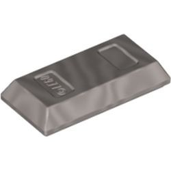 Metallic Silver Minifigure, Utensil Ingot / Bar