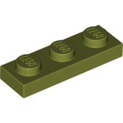 Olive Green Plate 1 x 3