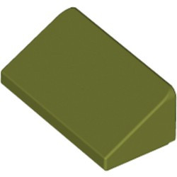Olive Green Slope 30 1 x 2 x 2/3 - used