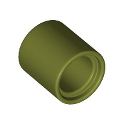 Olive Green Technic, Pin Connector Round 1L (Spacer) - new