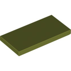 Olive Green Tile 2 x 4 - used