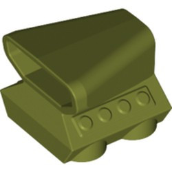 Olive Green Vehicle, Air Scoop Engine Top 2 x 2