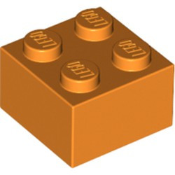 Orange Brick 2 x 2 - new