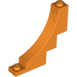 Orange Brick, Arch 1 x 5 x 4 Inverted - used