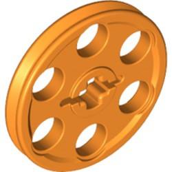 Orange Technic Wedge Belt Wheel (Pulley) - used