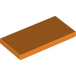 Orange Tile 2 x 4 - new