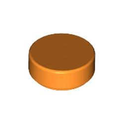 Orange Tile, Round 1 x 1 - used