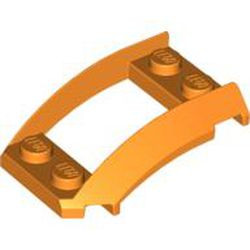 Orange Wedge 4 x 3 Open with Cutout and 4 Studs