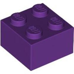 Purple Brick 2 x 2 - used