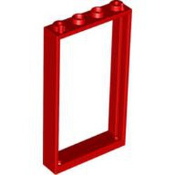 Red Door, Frame 1 x 4 x 6 with 2 Holes on Top and Bottom