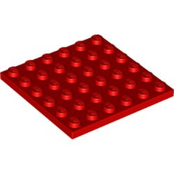 Red Plate 6 x 6 - new
