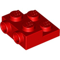 Red Plate, Modified 2 x 2 x 2/3 with 2 Studs on Side