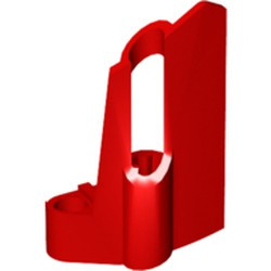 Red Technic, Panel Fairing #24 Small Short, Small Hole, Side B