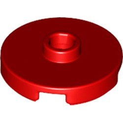Red Tile, Round 2 x 2 with Open Stud