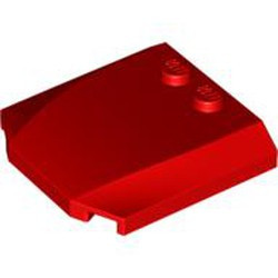 Red Wedge 4 x 4 x 2/3 Triple Curved - new