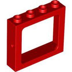 Red Window 1 x 4 x 3 Train - Hollow Studs