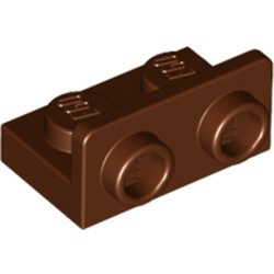 Reddish Brown Bracket 1 x 2 - 1 x 2 Inverted - new