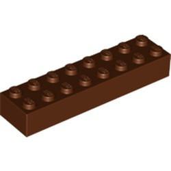 Reddish Brown Brick 2 x 8 - new