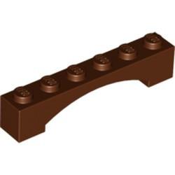 Reddish Brown Brick, Arch 1 x 6 Raised Arch - new