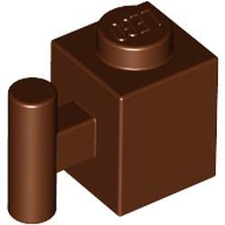 Reddish Brown Brick, Modified 1 x 1 with Bar Handle