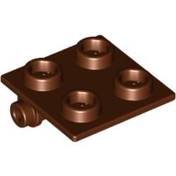 Reddish Brown Hinge Brick 2 x 2 Top Plate