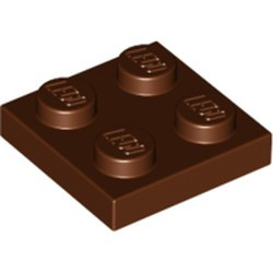 Reddish Brown Plate 2 x 2 - used
