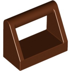 Reddish Brown Tile, Modified 1 x 2 with Bar Handle - new