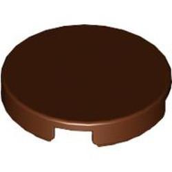 Reddish Brown Tile, Round 2 x 2 - used